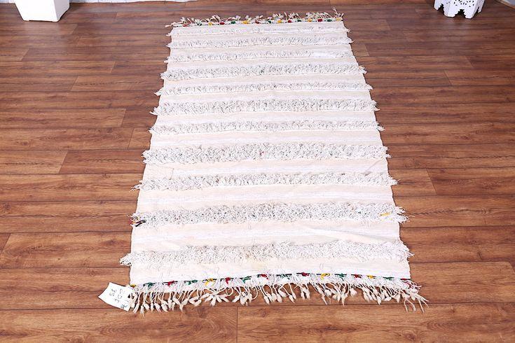 Vintage Handira, Wedding Blanket, 3.3ft x 6.7ft, Moroccan