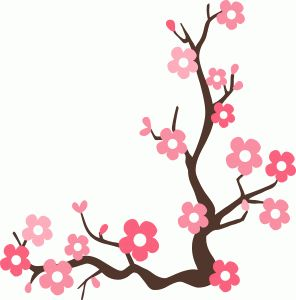 80 best cherry blossom vector clipart png images on pinterest rh pinterest com cherry blossom clip art images cherry blossom branch clipart