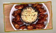 Φτερούγες κοτόπουλου με σάλτσα μπάρμπεκιου