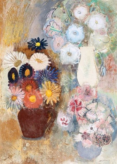 Mattioni, Eszter (1902-1993) - Still-Life with Flower