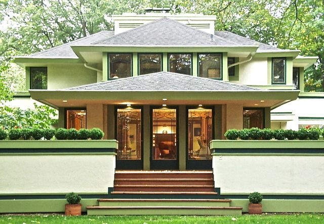 J. Kibben Ingalls House. 1909. River Forest, Illinois. Frank Lloyd Wright. Prairie Style.