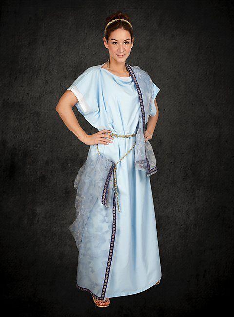 ab737e15ef5 Roman Stola and Palla Indigo Blue - Classical women's garb from ancient Rome  Priestess Costume,