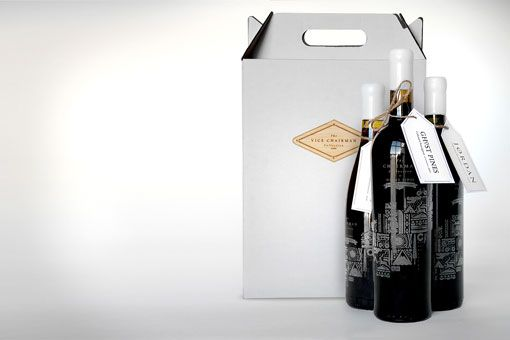 Colorado tourism promotion: bottles laser etched and dipped into white wax