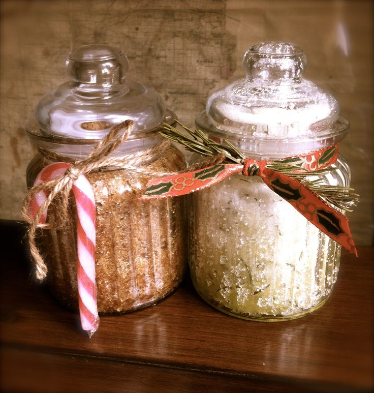 Christmas Body Scrubs made at a Crafternoon Workshop