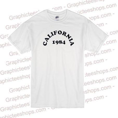 California 1984 tshirt