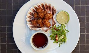A plate of queenie scallops at Hantverk and Found in Margate - reviewed by Jay Rayner in The Guardian.