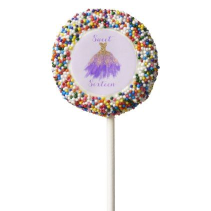 Sweet 16 Birthday Chocolate Dipped Oreo Pop - birthday gifts party celebration custom gift ideas diy