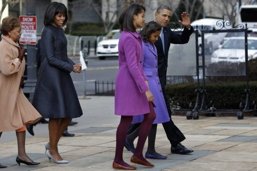 Potus and family on Inauguration day Jan 21 2013