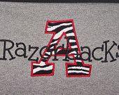 Custom School Mascot Shirt Arkansas Razorback Shirt