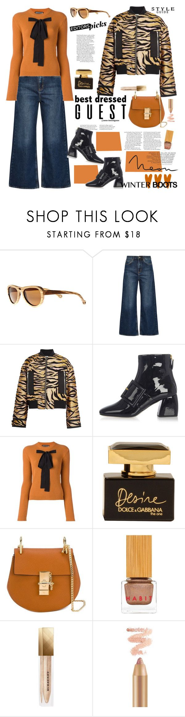 """Perfect Pair : Wide leg jeans and ankle boots"" by ellie366 ❤ liked on Polyvore featuring Earth, M.i.h Jeans, Kenzo, Miu Miu, Rochas, Dolce&Gabbana, Chloé, Habit Cosmetics, House of Fraser and Burberry"