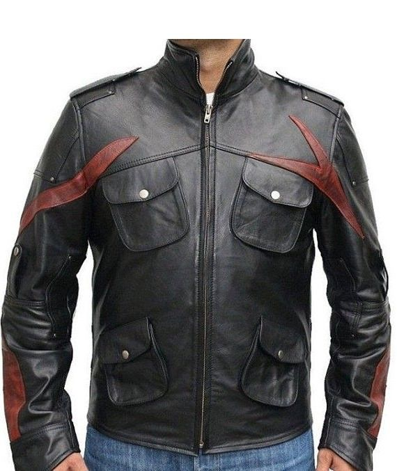 Stylish Leather Biker Jacket for Men Discounted Price= £135.00 -25%  Original Price