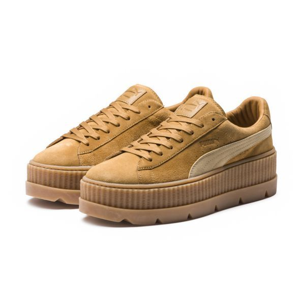 Image 1 of FENTY Suede Cleated Creeper Women's, Golden Brown