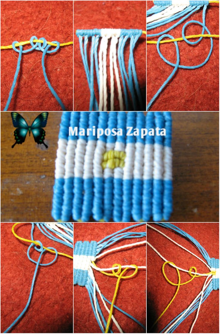 Tutorial Bandera Argentina en Macrame https://www.facebook.com/media/set/?set=a.702880536416452.1073741840.252922568078920type=3