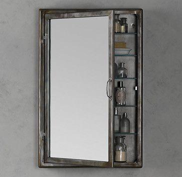 Pharmacy Wall Mount Medicine Cabinet Burnished Steel - eclectic - medicine cabinets - Restoration Hardware