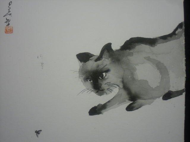 sumie(black & white painting)