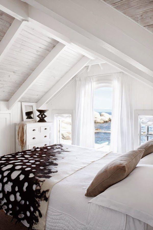Casa en la playa en Sudáfrica - dormitorio  | DEF Deco - Decorar en familia