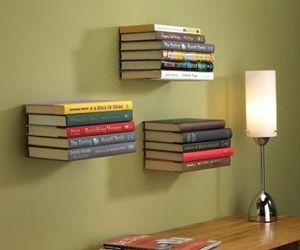 Add some mystery to your home with this floating bookshelf, guaranteed to get people to double take and start asking questions! Includes eve...