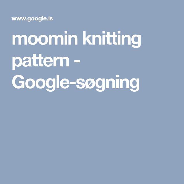 moomin knitting pattern - Google-søgning