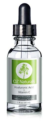 OZ Naturals - THE BEST Hyaluronic Acid Serum For Skin - Clinical Strength Anti Aging Serum - Best Anti Wrinkle Serum With Vitamin C + Vitamin E - Our Customers Call It A Facelift In A Bottle. This Vegan Hyaluronic Acid Serum Will Plump & Hydrate Dull Skin As It's Designed To Fill Those Fine Lines & Wrinkles.