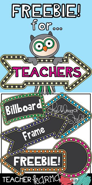 FREE Frames for Teachers from Teacher KARMA    Billboard style frames with a chalkboard center... you know these are perfect for teachers!Click here to get the FREEBIE Billboard Frames in Chalkboard Style!These graphics may be used for commercial use. The download will include my Terms of Use.  Enjoy your FREEBIE and best wishes!   3-5 clipart frames free clipart free clipart for teachers free graphics K-2 school clipart teacher clipart teacherkarma.com