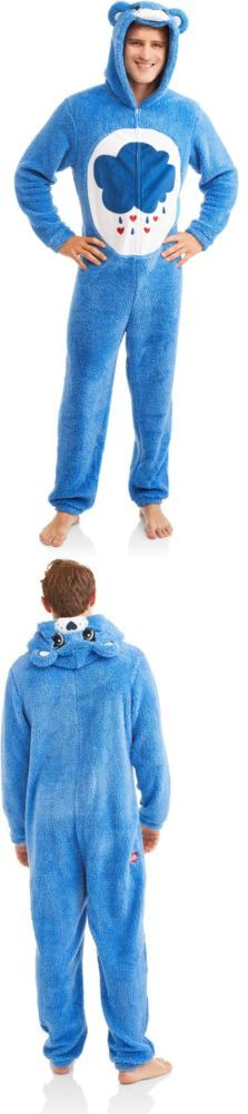 Sleepwear and Robes 166697: Care Bear Men Union Suit Bedtime Grumpy Blue Halloween Costume Pajamas Large -> BUY IT NOW ONLY: $49.95 on eBay!