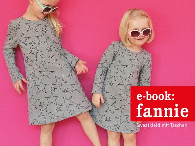Nähanleitungen Kind - E-BOOK ★ Fannie - Sweatkleid mit Taschen - ein Designerstück von fritzi-selbermacher bei DaWanda
