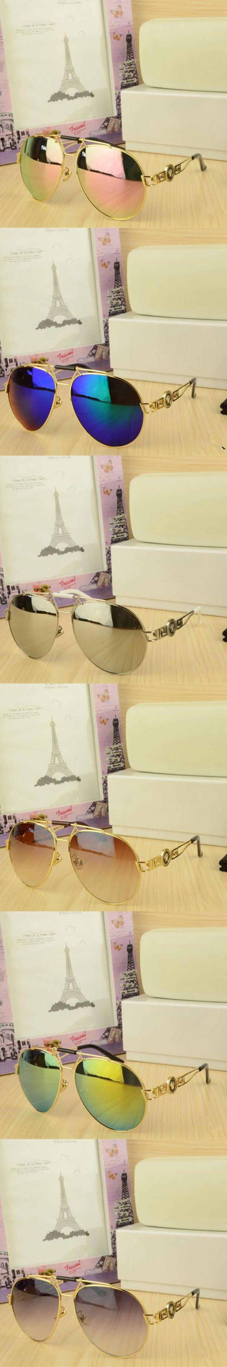 2018 New fashion sunglasses metal leather decoration frame luxury brand designer women mirror sunglasses men uv400 shades
