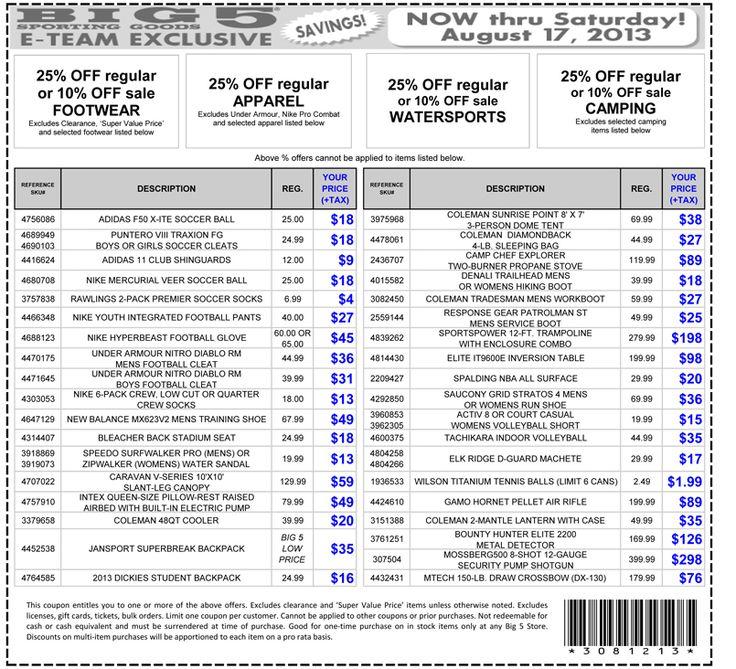 Big e discount coupons