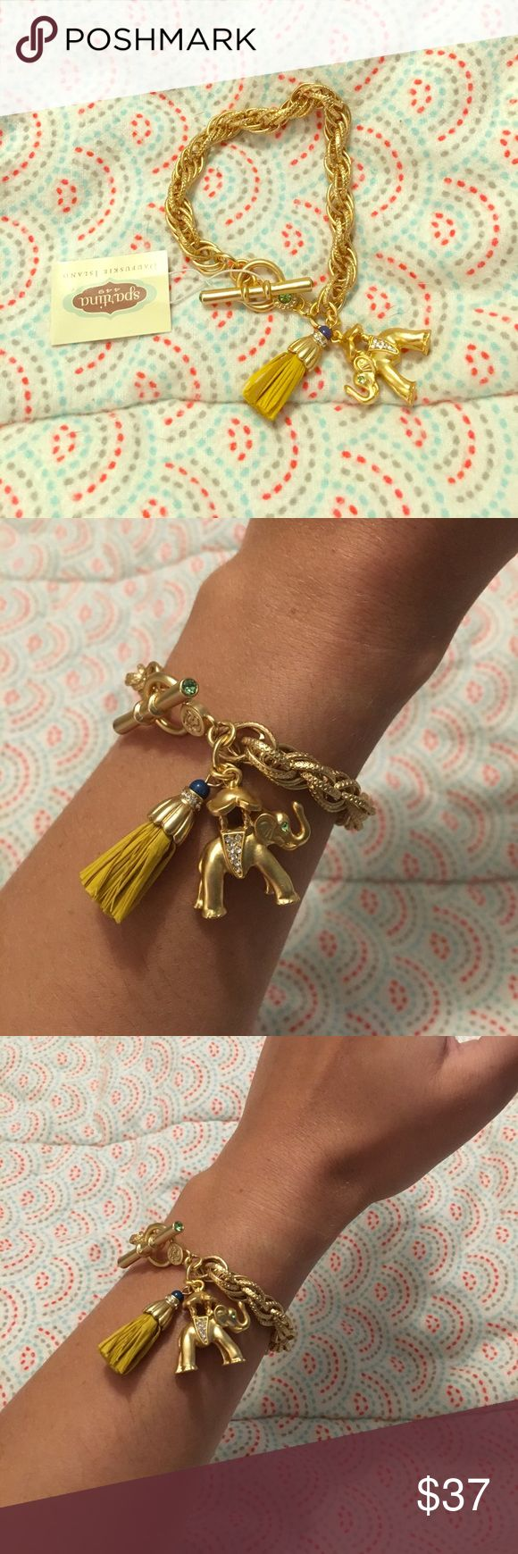Elephant Toggle Bracelet Spartina elephant toggle bracelet, gold plated, brand new with tags. Great for any occasion Spartina 449 Jewelry Bracelets