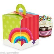 Rainbow Party Cupcake Boxes