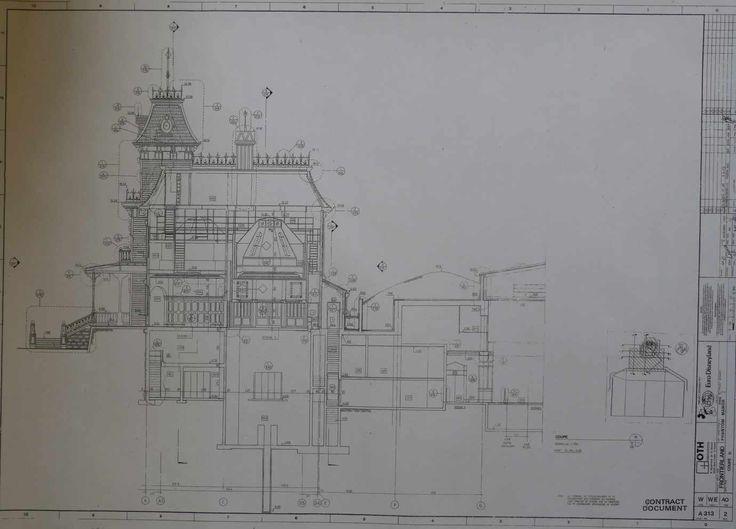 59 best portrait images on pinterest disneyland paris for Haunted mansion blueprints
