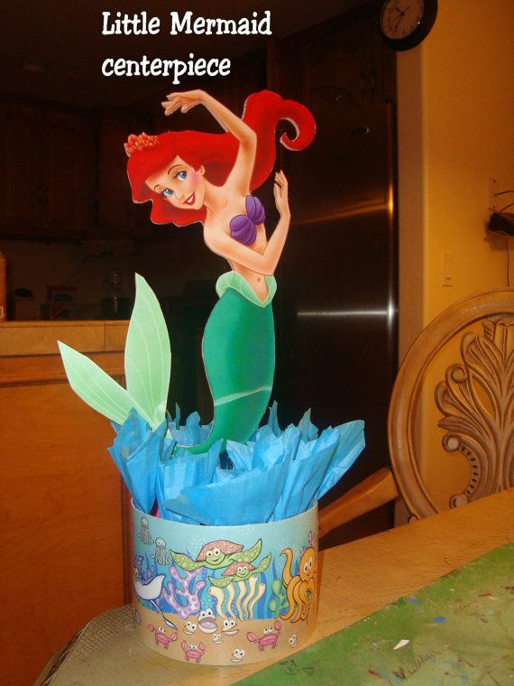 little mermaid birthday party centerpiece girl by
