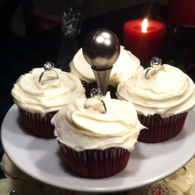 Engagement party cupcakes!