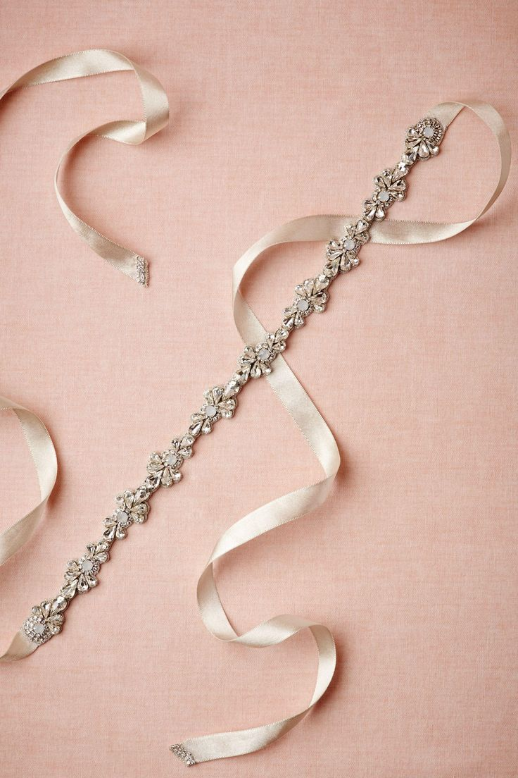 sparkled skinny sash