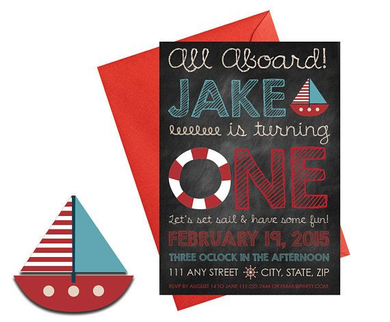 Nautical Party Invitation with Envelopes Printed Birthday invites. Click through to find matching games, favors, thank you cards, inserts, decor, and more. Or shop our 1000+ designs for all of life's journeys. Weddings, birthdays, new babies, anniversaries, and more. Only at Aesthetic Journeys