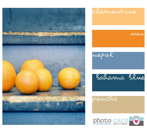 """Toasted apricot"" wall and lighter orange wall like ""clementine."""