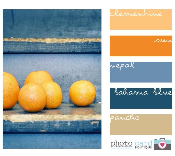 138 best blue color palettes images on pinterest color for Blue and orange paint combinations