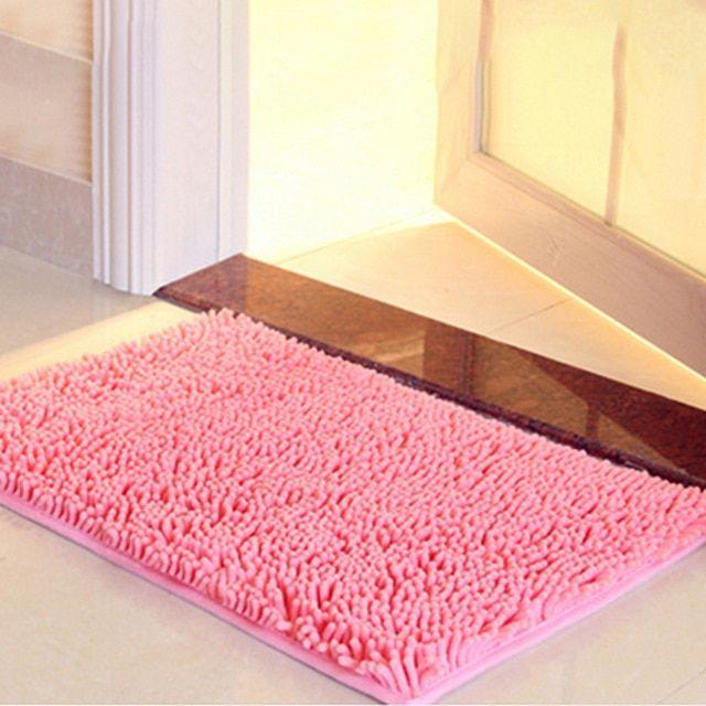 Wholesale Bath Mat Bathroom Carpet Bathroom Mat For Toilet Bathroom Rug Toilet Mat Tub Rug Anti Slipping Absorbent Soft Chenille Review Bathroom Carpet Bathroom Mats Toilet Mat