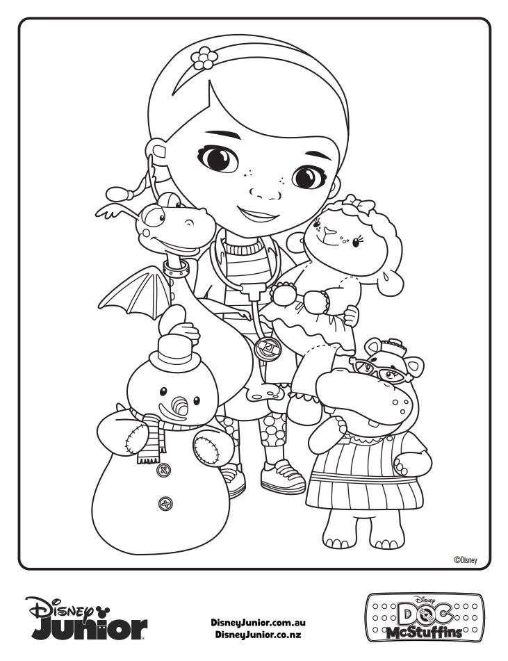The 41 Best Images About Coloring Pages Doc McStuffins On