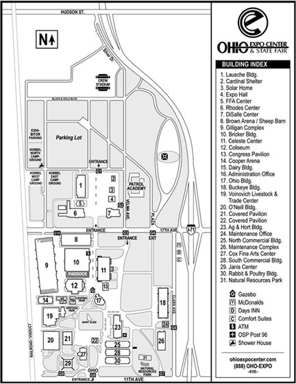 Map of Ohio State Fair and Crew Stadium AOSFYC was the greatest and really fun here.
