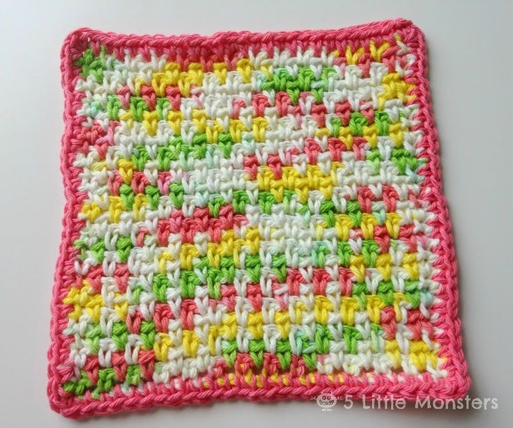 Knitted Moss Stitch Dishcloth Pattern : When I was looking for dishcloth patterns for my spring cleaning round up a c...