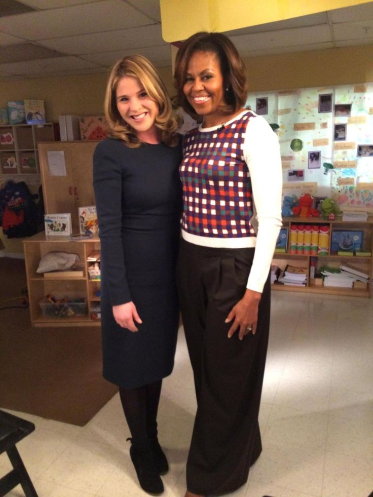 Jenna Bush Hager, with the First Lady in February, said she is ''fiercely protective' of the Obama girls.