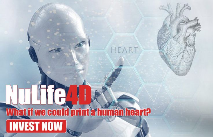 NuLife4D and their Life4D Token Launch their ICO, Soon Printing a Human Heart On Demand Will No Longer be Sci-Fi