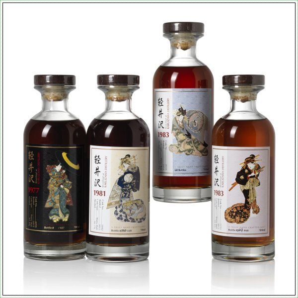 Rare Japanese Whiskies Go On Auction In Hong Kong: The Karuizawa Geisha series #whisky