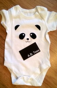 Panda Body / maßgeschneiderte Body / bemalte Body / Baby-Dusche-Geschenk / neue Ba …   – asi empezamos
