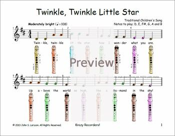 Free Sheet Music For Twinkle Twinkle Little Star Children S Song