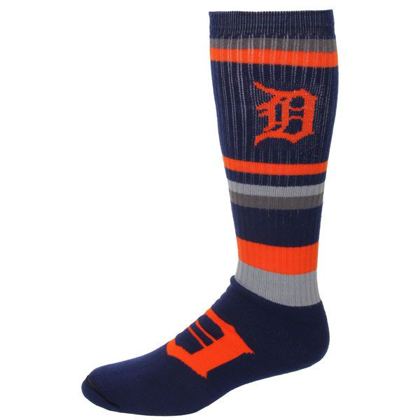 Detroit Tigers For Bare Feet Squad Stripe Tube Socks - $11.99