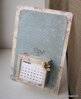 от сердца к сердцу...: Фоторамка-календарь