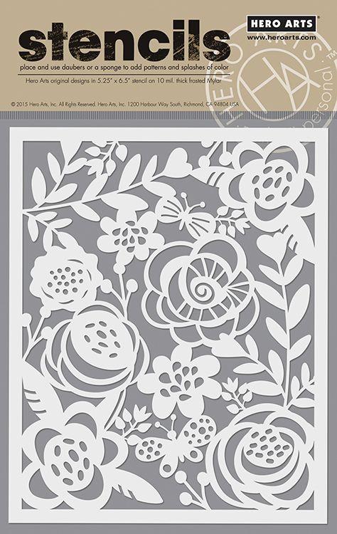 Hero+Arts+-+Stencils+-+Bold+Floral+at+Scrapbook.com