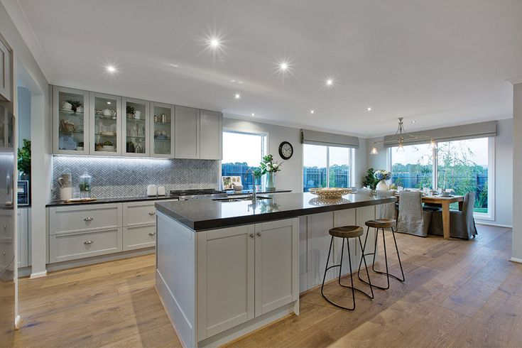 Kitchen in the Vancouver display with a Classic Hamptons World of Style.